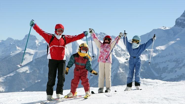 famille-ski